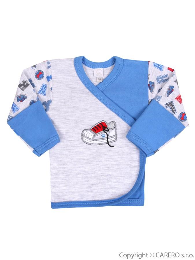 Dojčenská košieľka Bobas Fashion Písmená modrá
