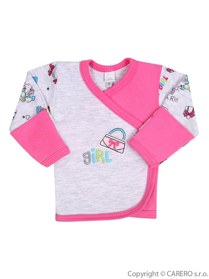 Dojčenská košieľka Bobas Fashion Písmená ružová