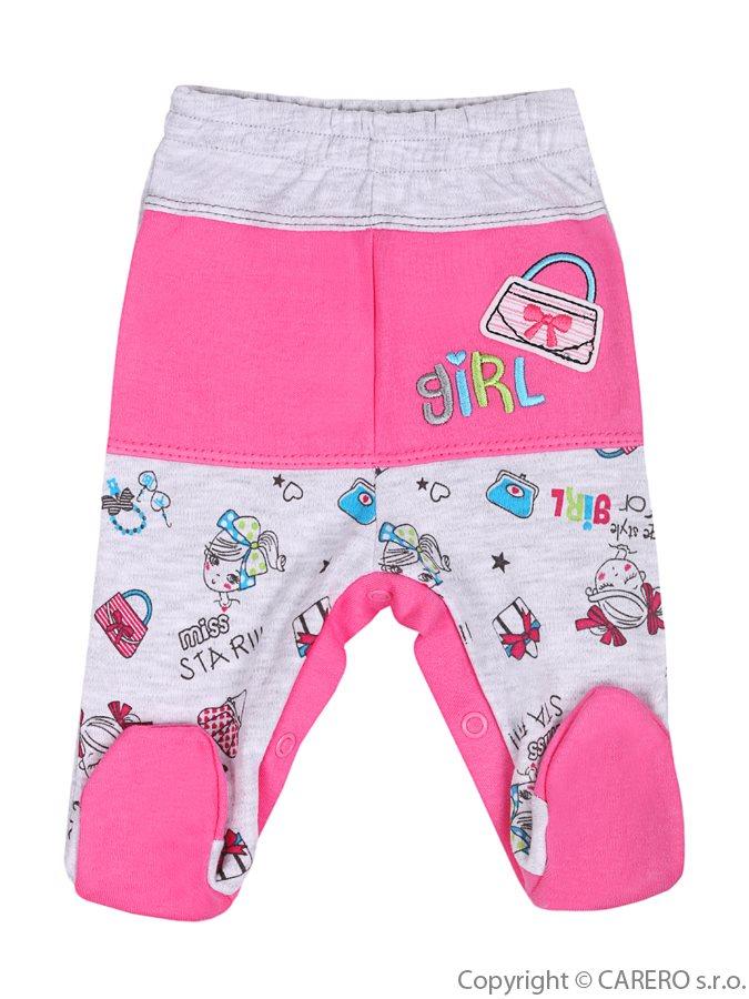 Dojčenské polodupačky Bobas Fashion Písmená ružové