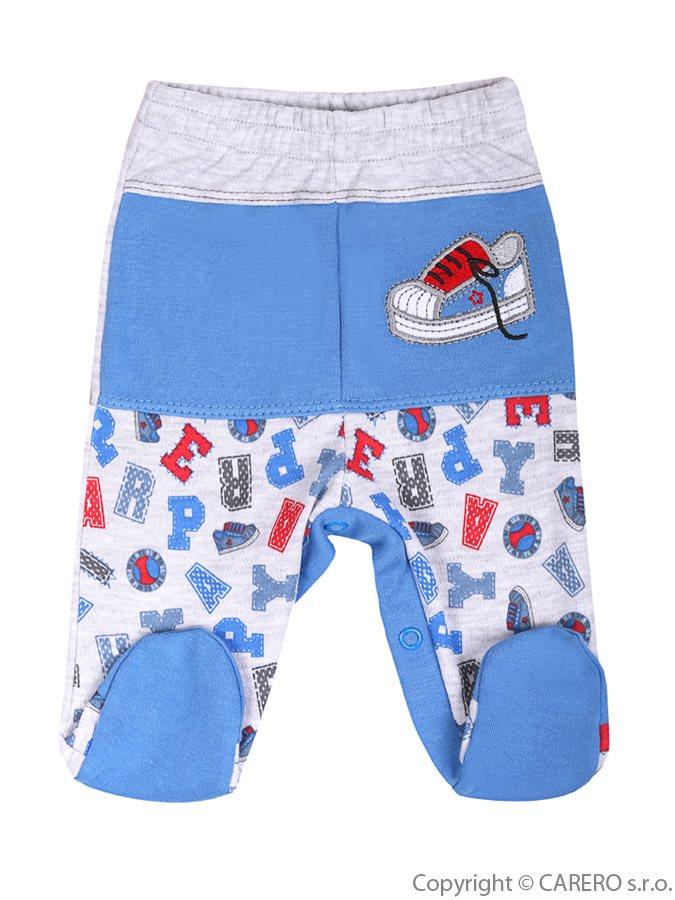 Dojčenské polodupačky Bobas Fashion Písmená modré