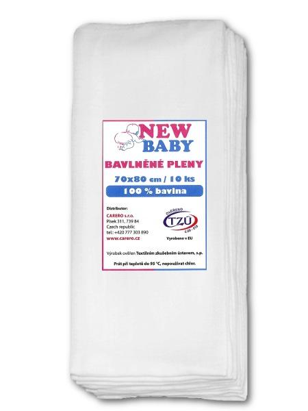 Bavlnené plienky NEW BABY 70x80 cm STANDARD