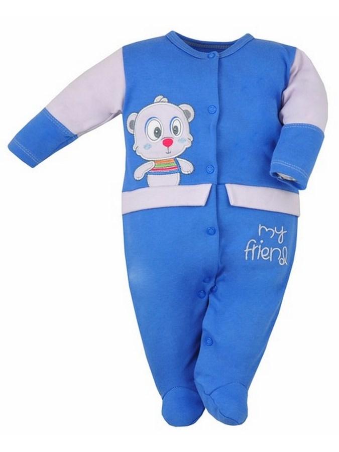Dojčenský overal Bobas Fashion Rarášek modrý
