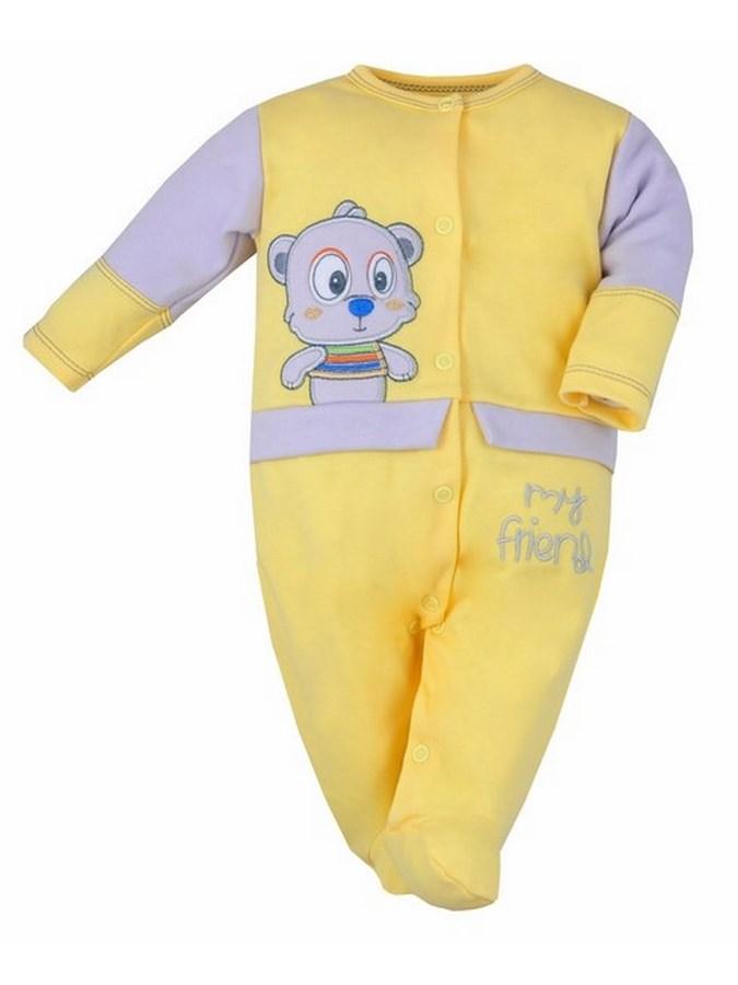 Dojčenský overal Bobas Fashion Rarášek žltý