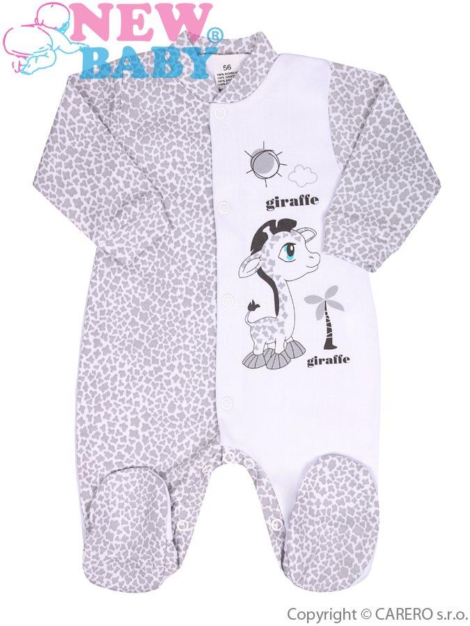 Dojčenský overal New Baby Giraffe sivý