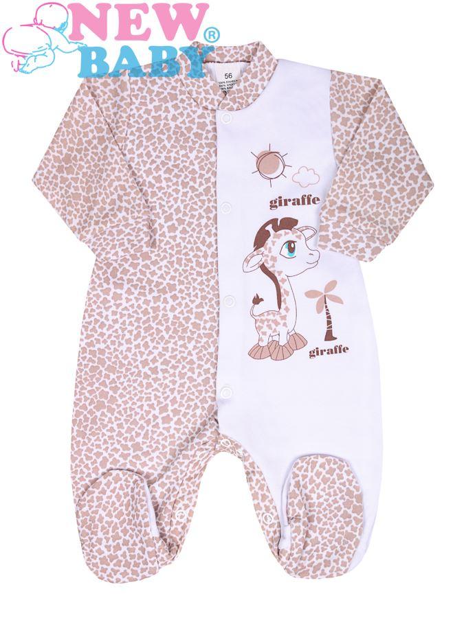 Dojčenský overal New Baby Giraffe bežový
