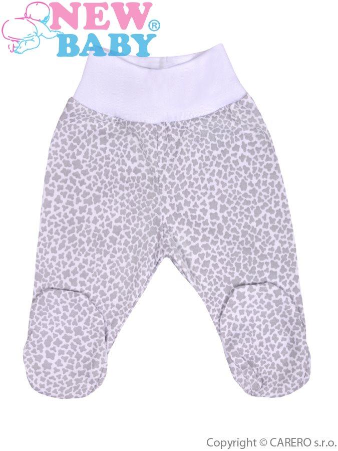 Dojčenské polodupačky New Baby Giraffe sivé