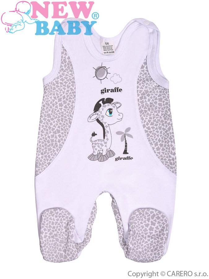 Dojčenské dupačky New Baby Giraffe sivé
