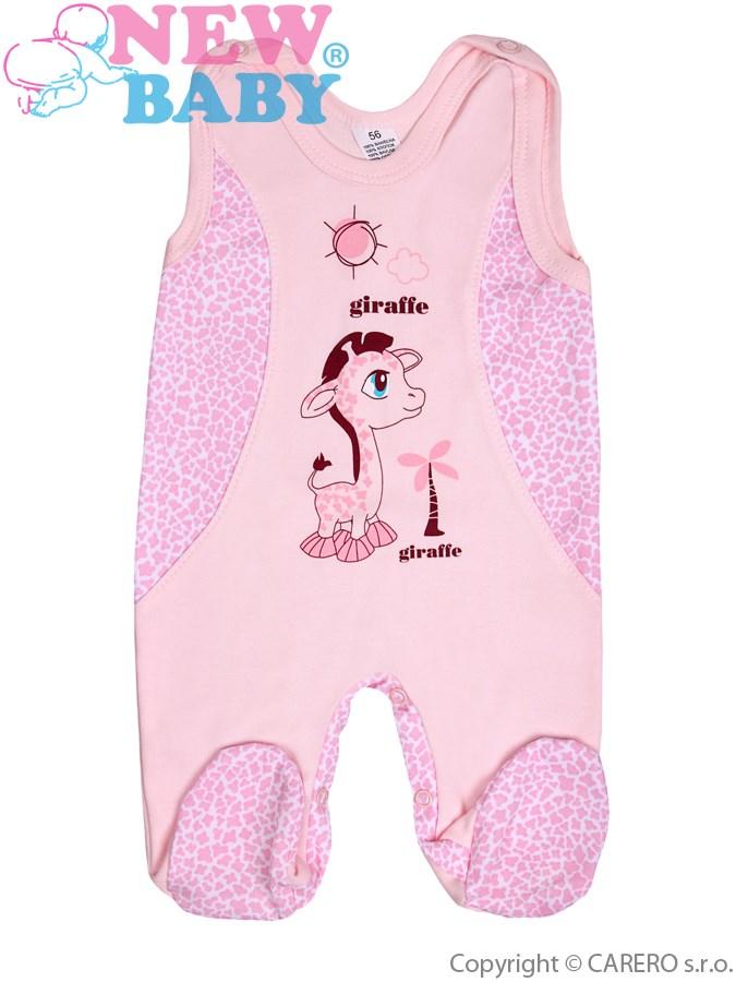 Dojčenské dupačky New Baby Giraffe ružové