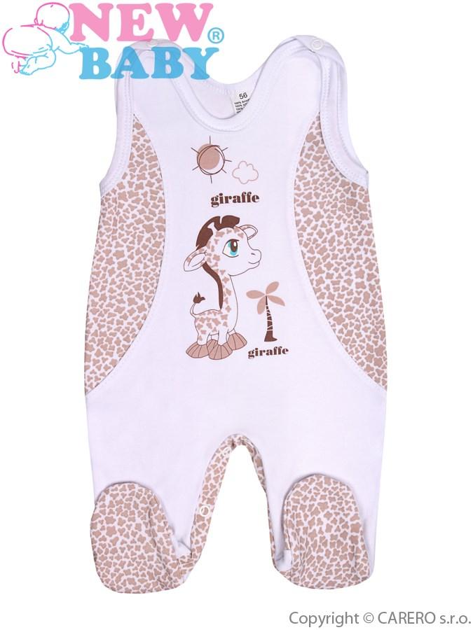 Dojčenské dupačky New Baby Giraffe bežové