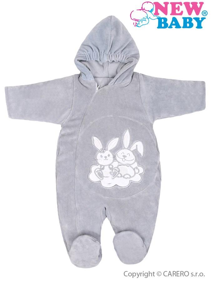 Zimný overal New Baby Bunnies sivý