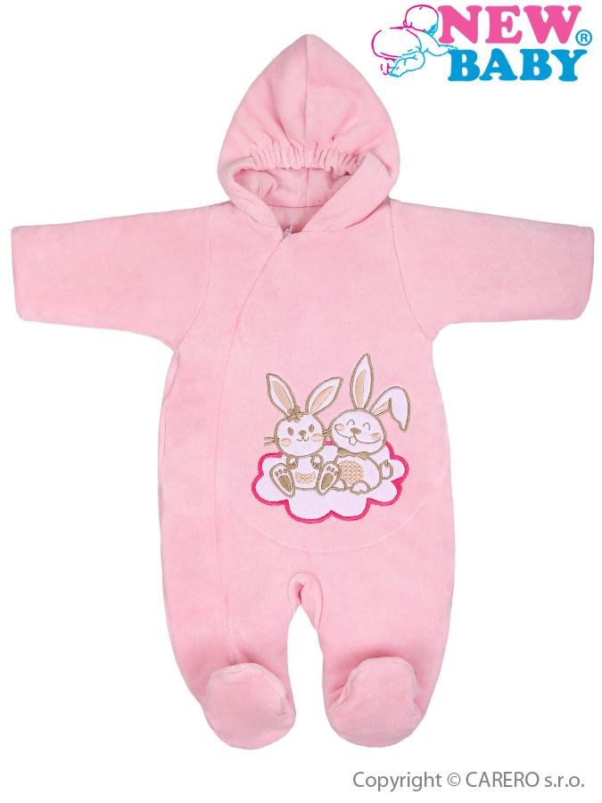 Zimný overal New Baby Bunnies ružový