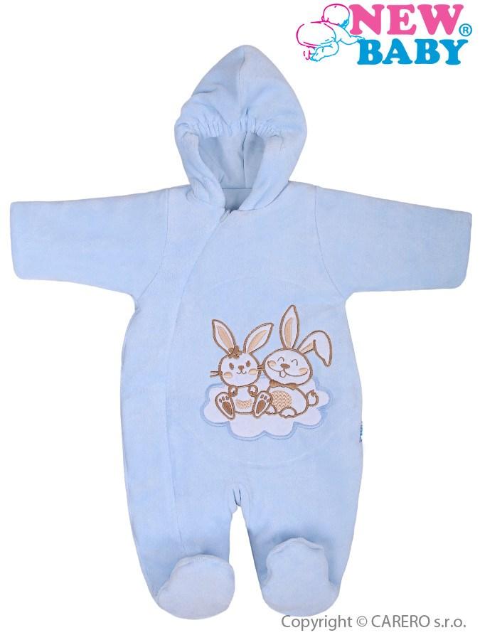Zimný overal New Baby Bunnies modrý