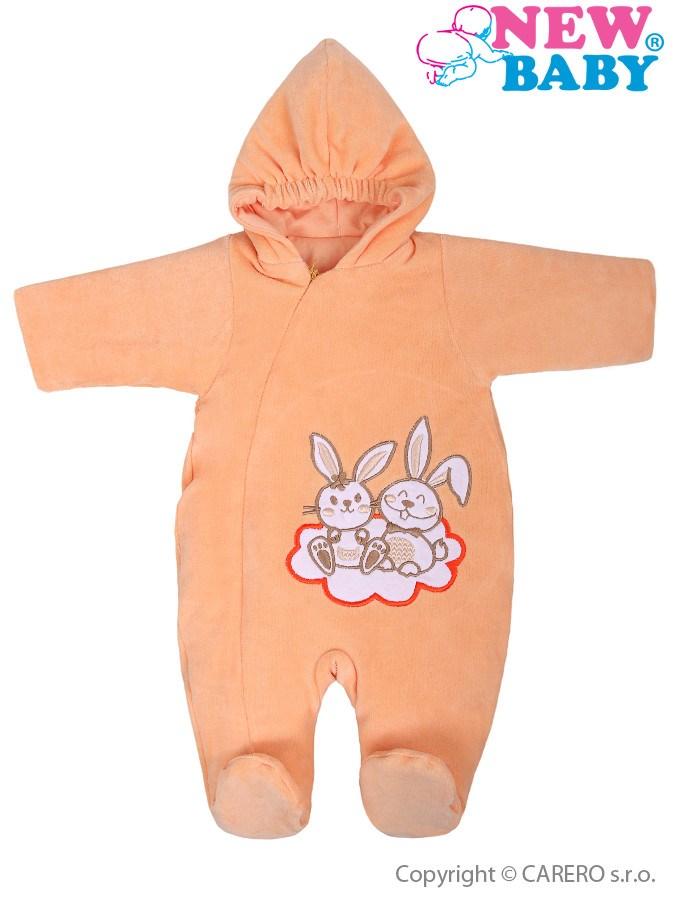 Zimný overal New Baby Bunnies oranžový