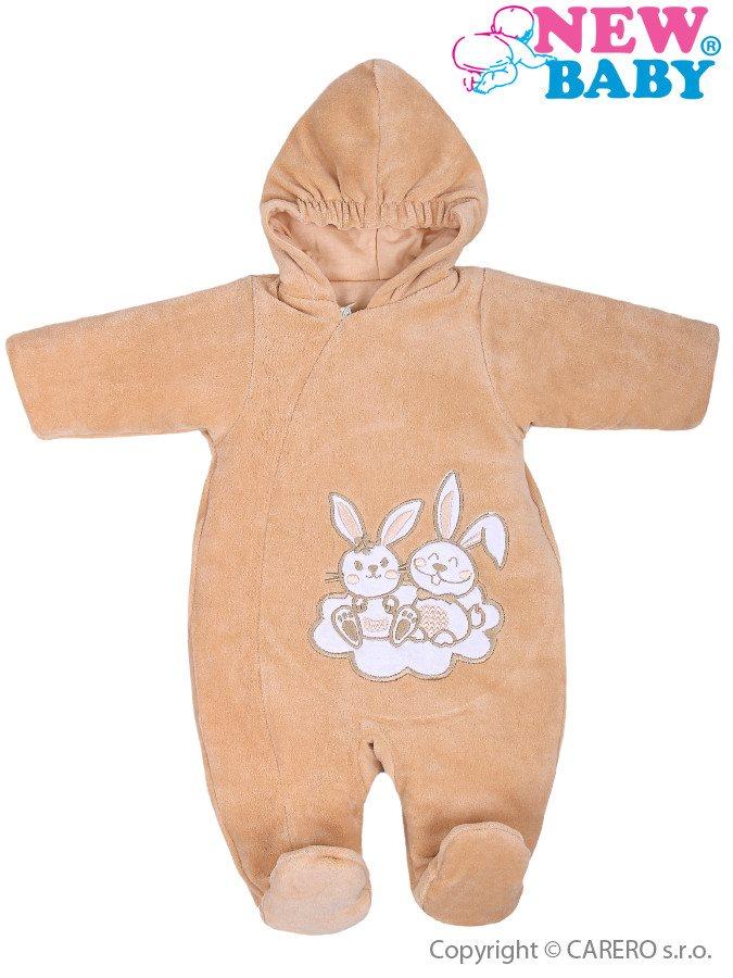 Zimný overal New Baby Bunnies hnedý