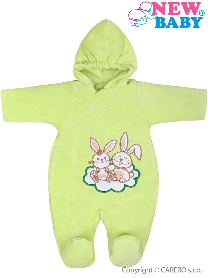 Zimný overal New Baby Bunnies zelený