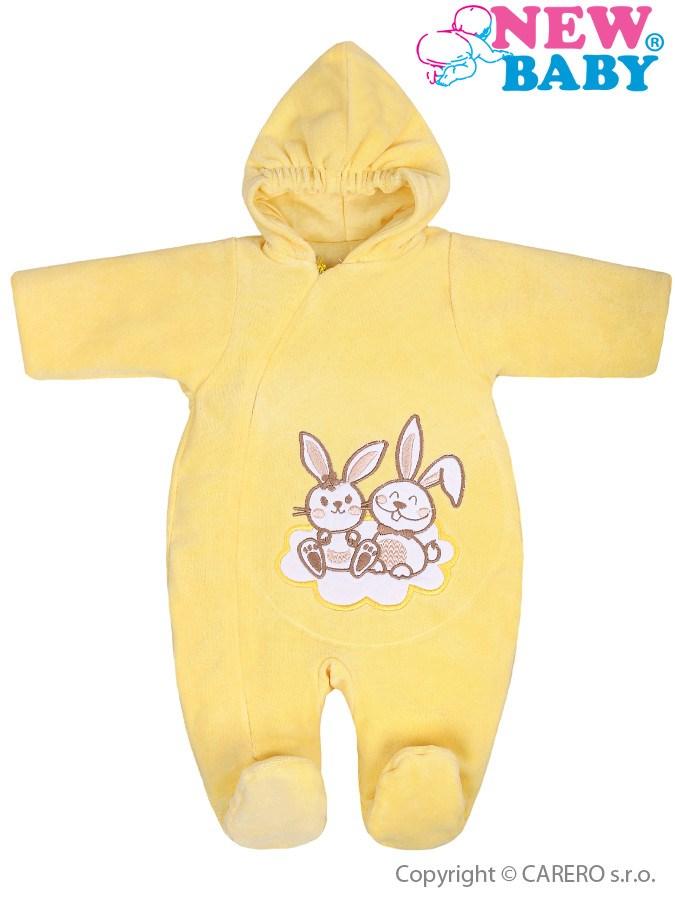 Zimný overal New Baby Bunnies žltý