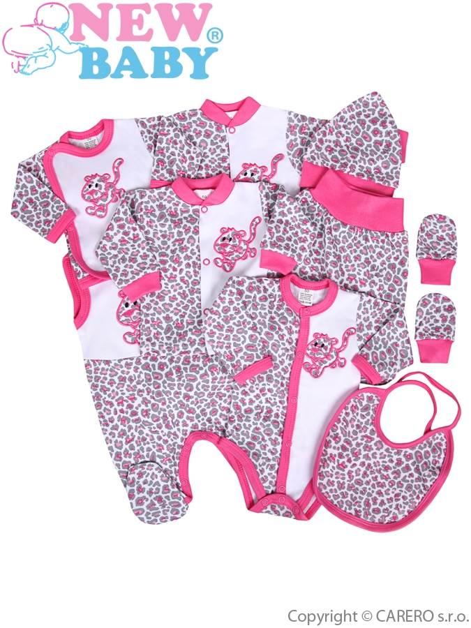 9-częściowy zestaw New Baby Lampart różowy