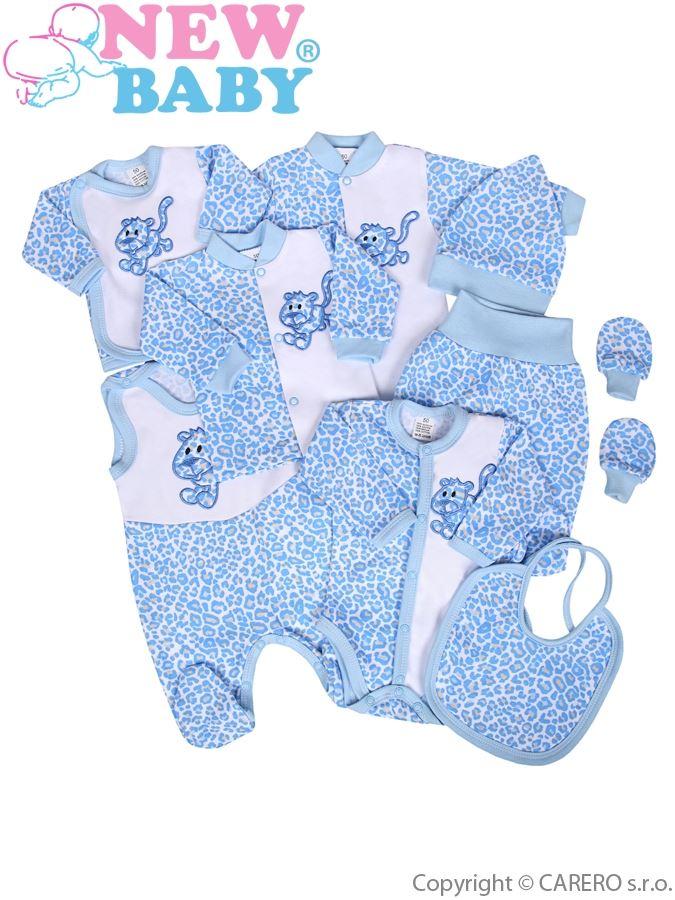 9-częściowy zestaw New Baby Lampart niebieski