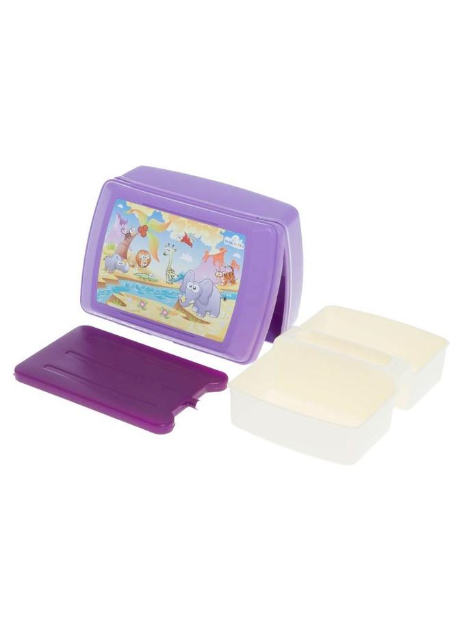 Chladiaci box na desiatu fialový Safari