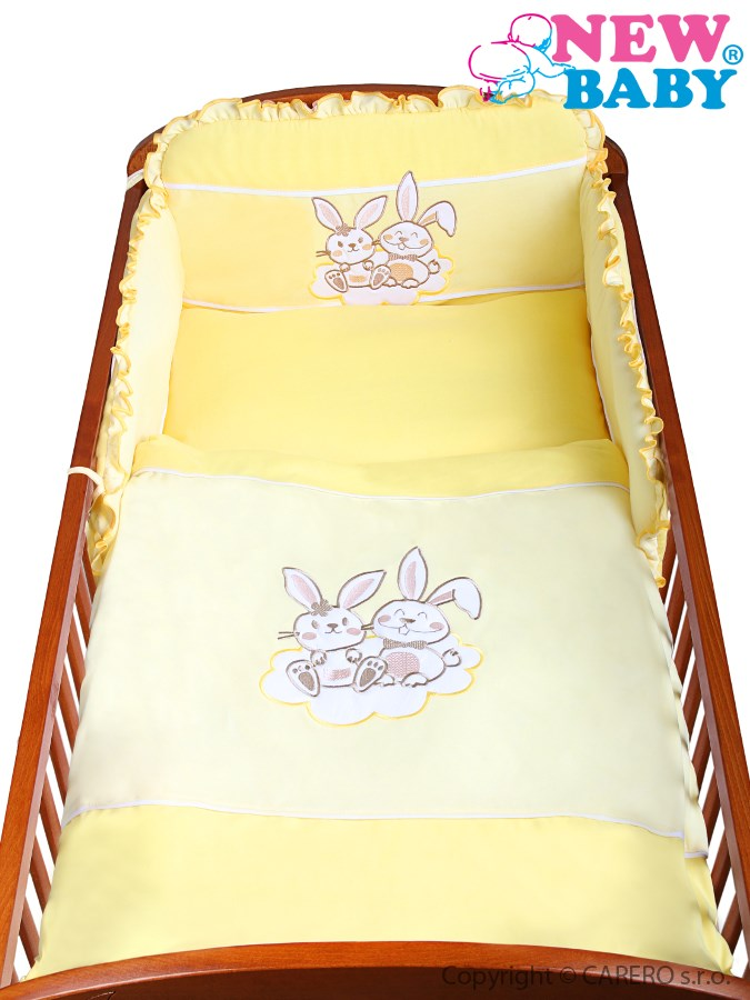 2-dielne posteľné obliečky New Baby Bunnies 90/120 žlté