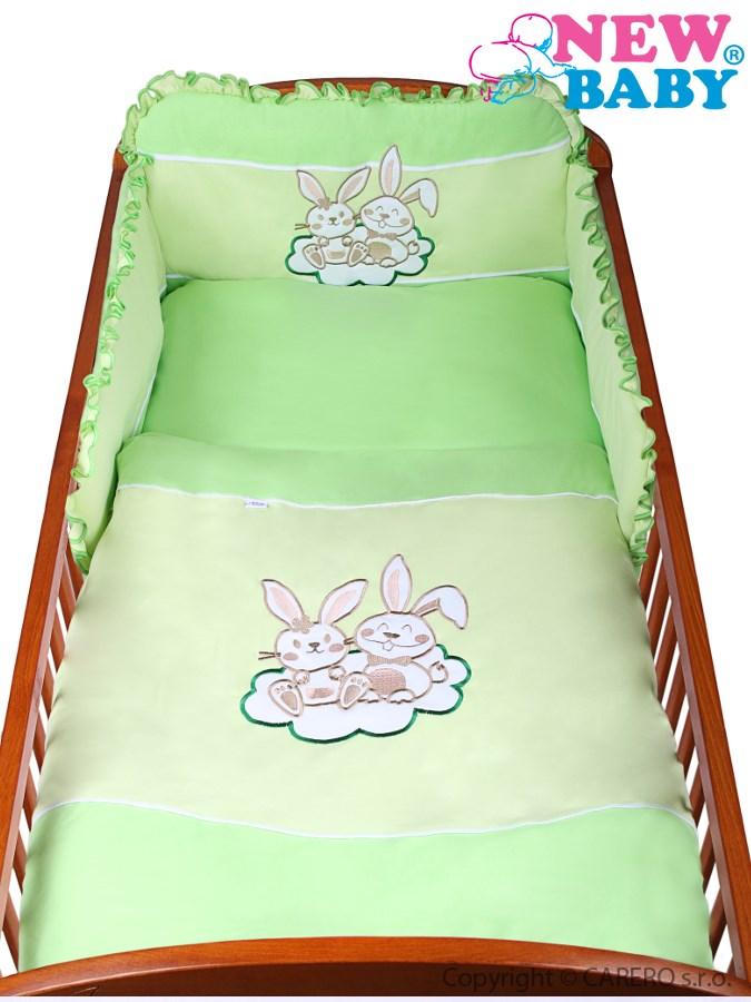 2-dielne posteľné obliečky New Baby Bunnies 100x135 zelené