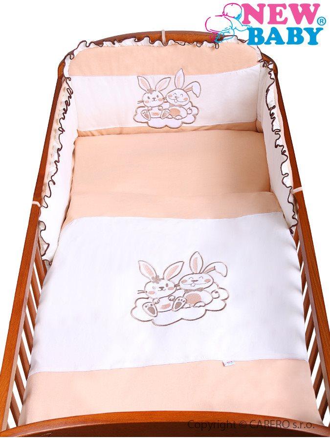 3-dielne posteľné obliečky New Baby Bunnies 90/120 hnedé