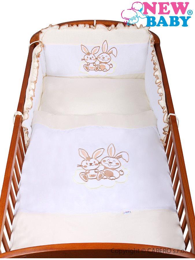 3-dielne posteľné obliečky New Baby Bunnies 100x135 bežové