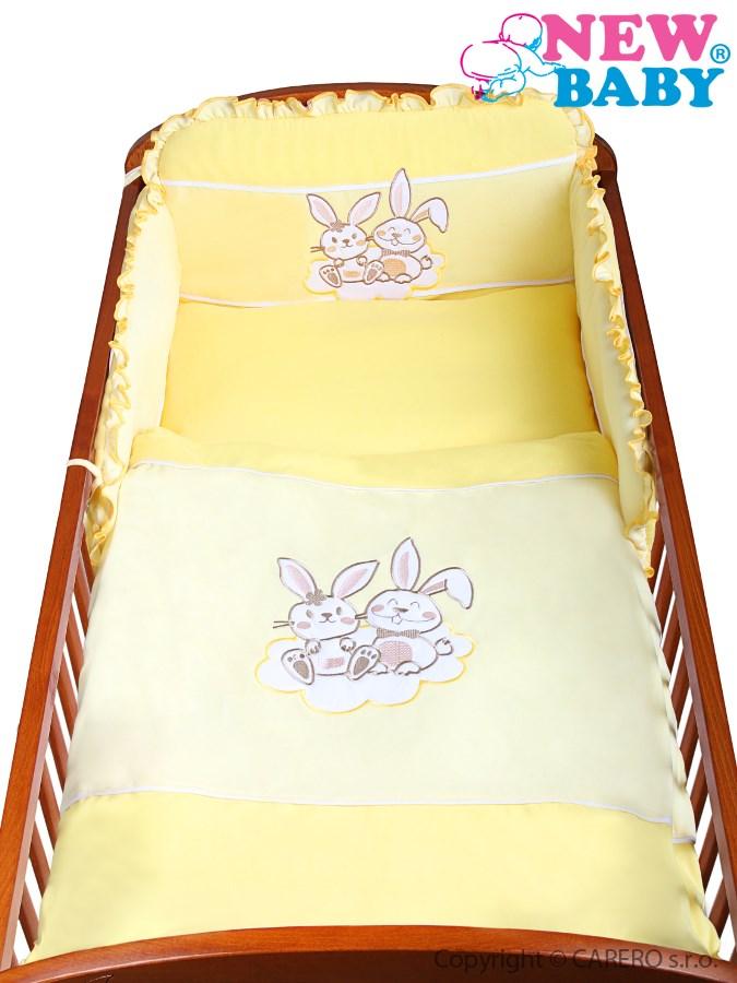 3-dielne posteľné obliečky New Baby Bunnies 100x135 žlté