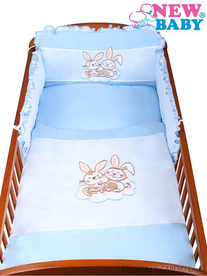 3-dielne posteľné obliečky New Baby Bunnies 100x135 modré