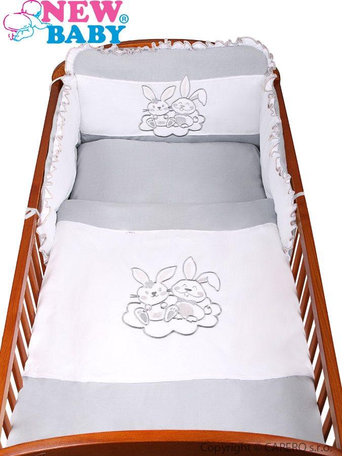 3-dielne posteľné obliečky New Baby Bunnies 100x135 sivé
