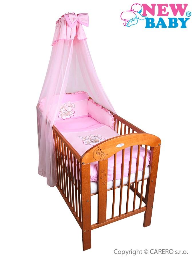 7-dielne posteľné obliečky New Baby Bunnies 90x120 ružové