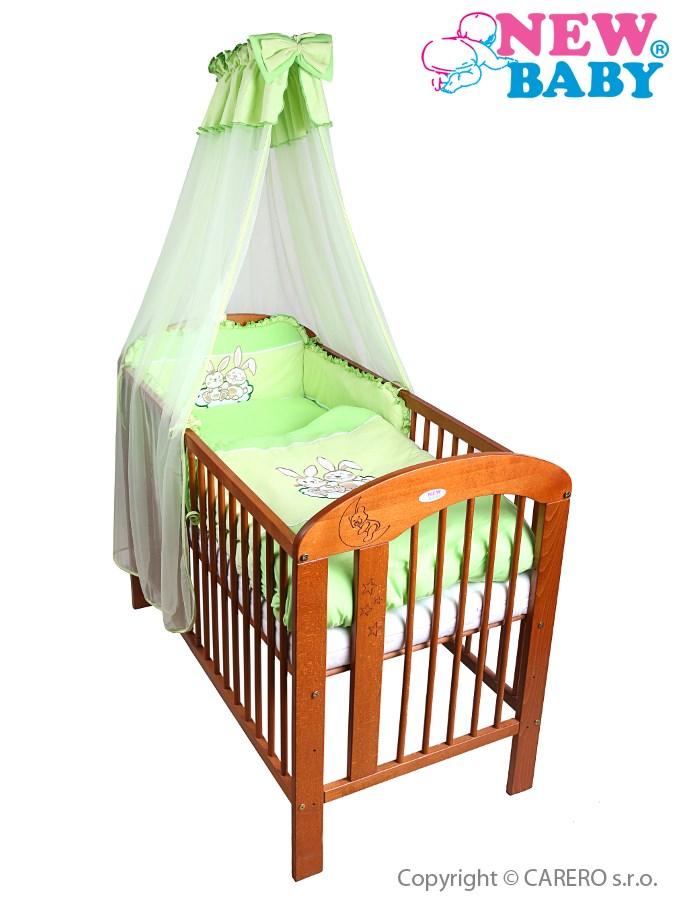 7-dielne posteľné obliečky New Baby Bunnies 90x120 zelené