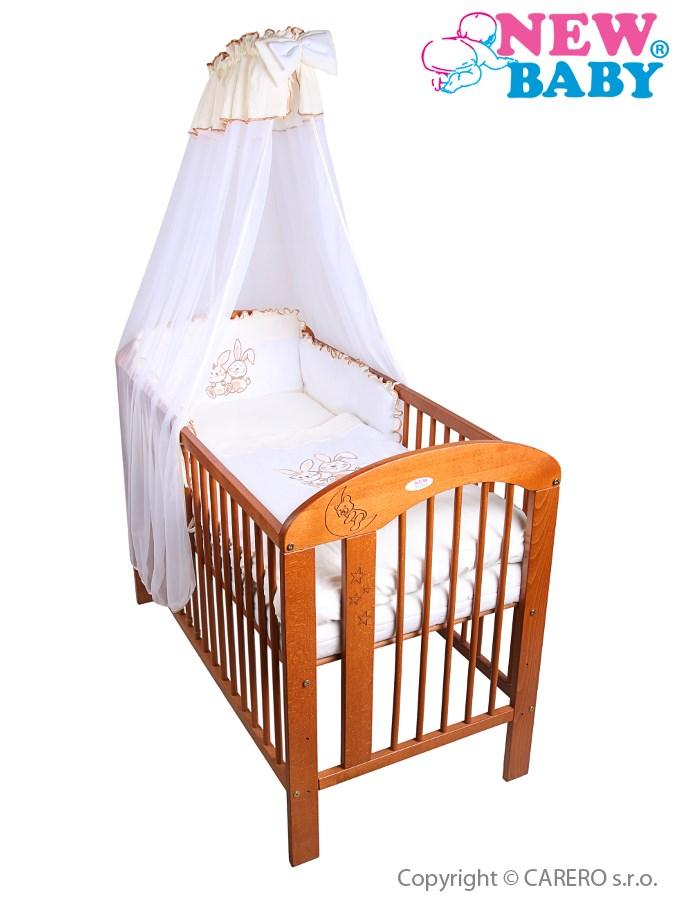 7-dielne posteľné obliečky New Baby Bunnies 100x135 bežové