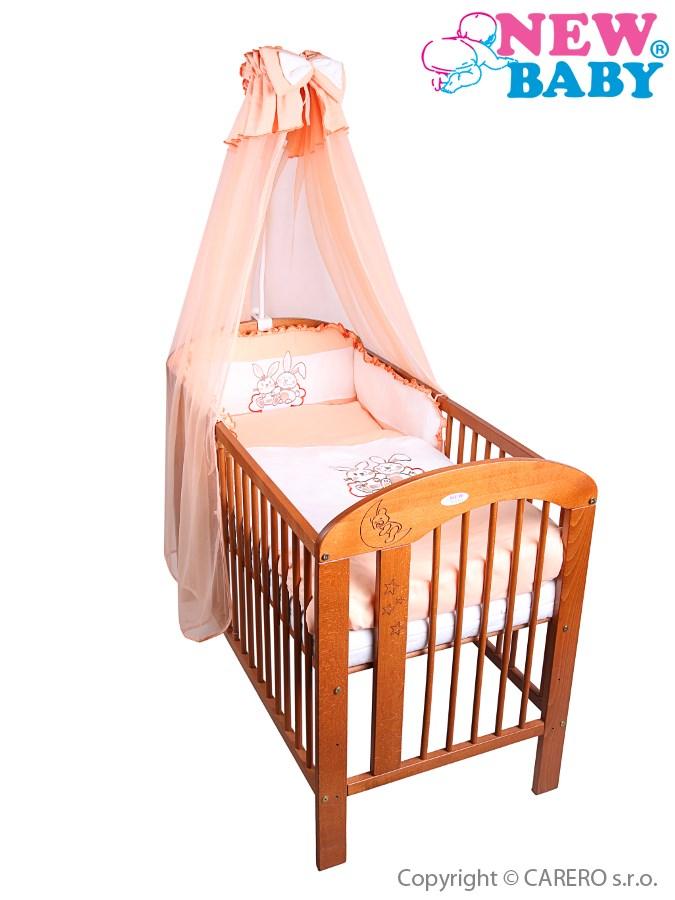 7-dielne posteľné obliečky New Baby Bunnies 100x135 oranžové