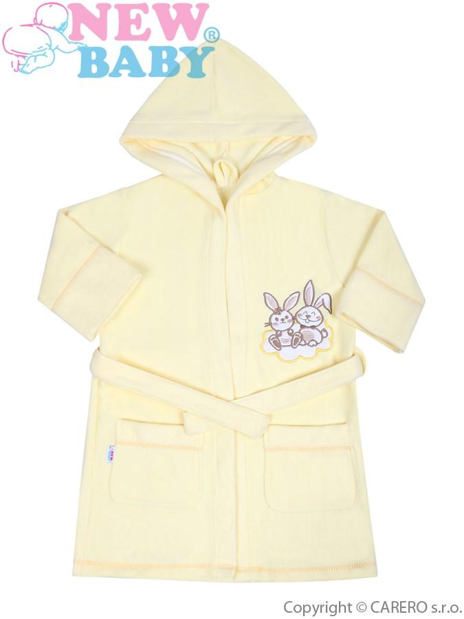 Detský župan New Baby Bunnies žltý
