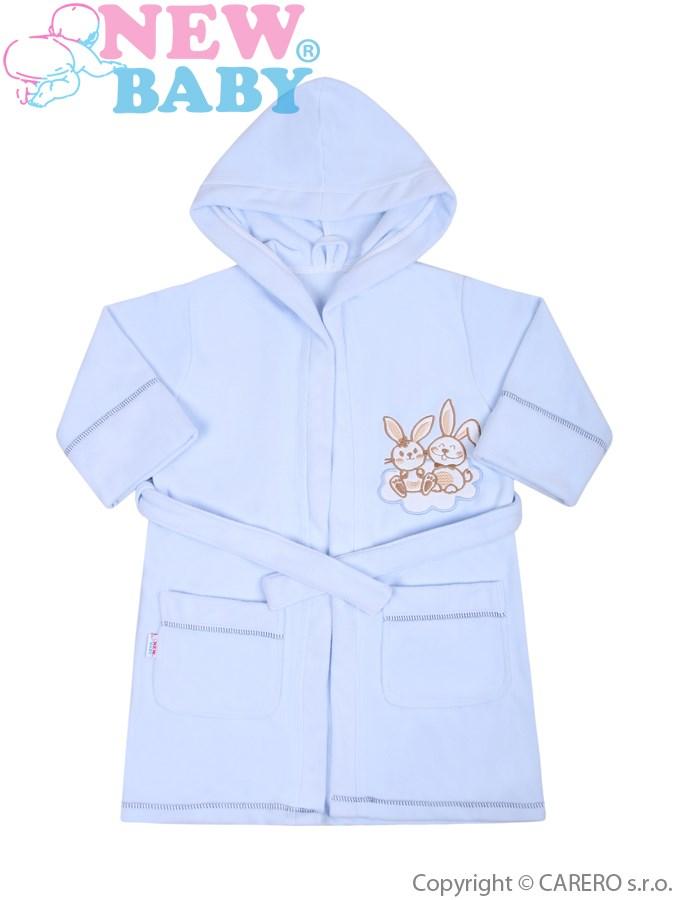 Detský župan New Baby Bunnies modrý