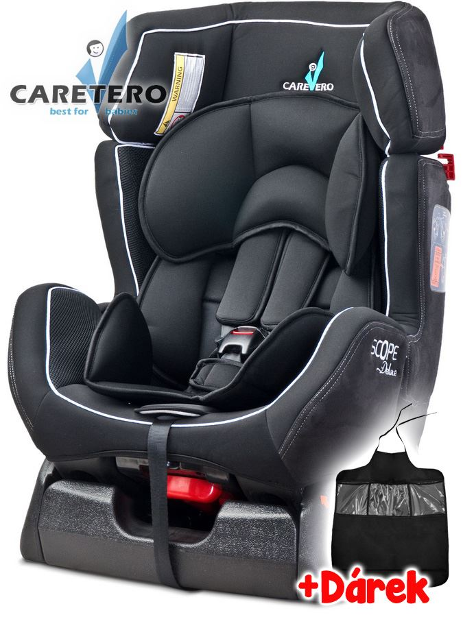 Autosedačka CARETERO Scope DELUXE black 2016 + darček