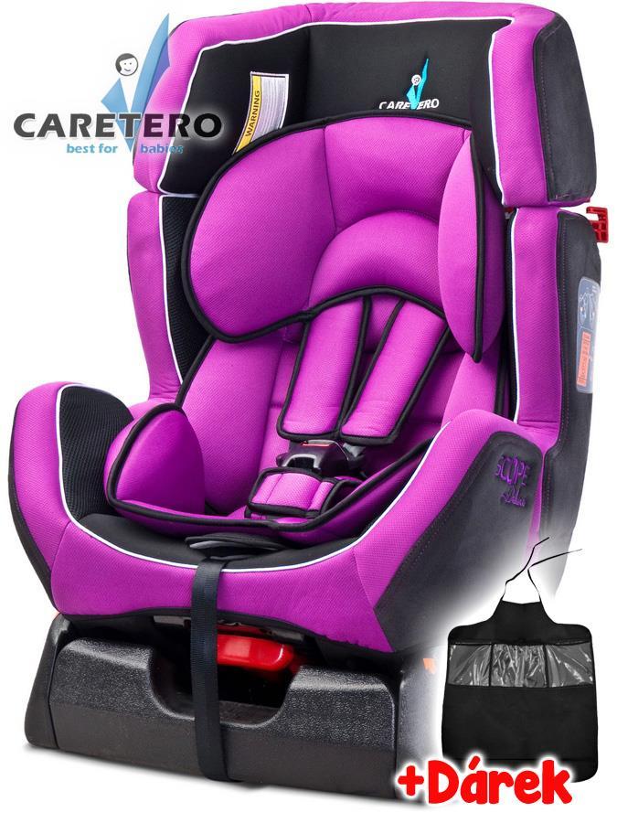 Autosedačka CARETERO Scope DELUXE purple 2016 + darček