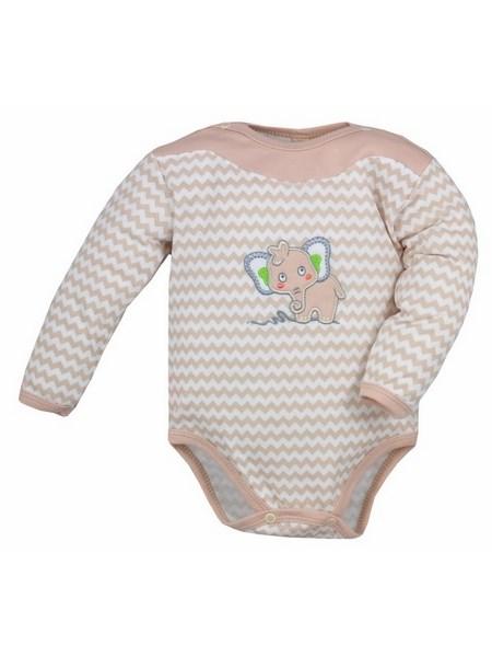 Dojčenské body s dlhým rukávom Bobas Fashion Dominik bežové