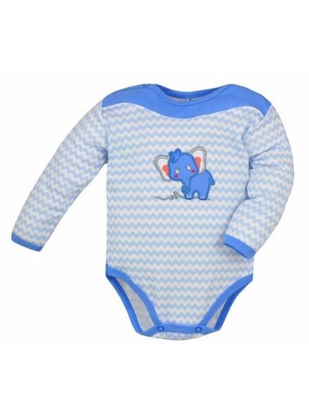 Dojčenské body s dlhým rukávom Bobas Fashion Dominik modré