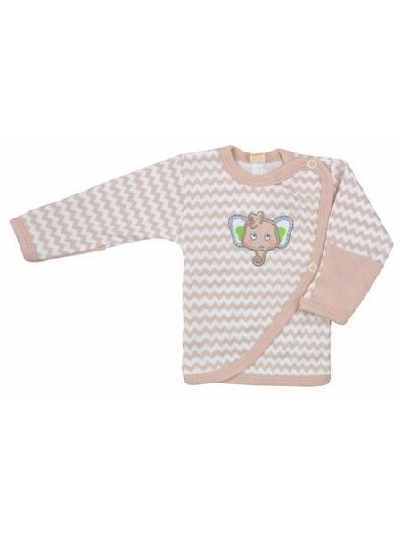 Dojčenská košieľka Bobas Fashion Dominik bežová