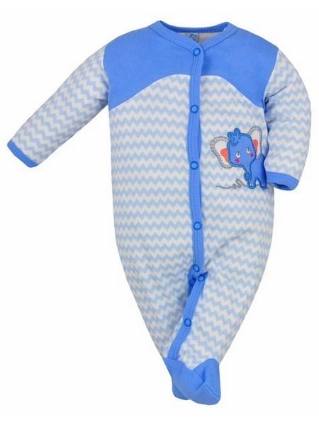 Dojčenský overal Bobas Fashion Dominik modrý