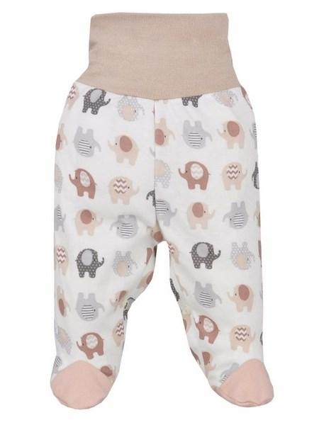 Dojčenské polodupačky Bobas Fashion Dominik bežové so slonmi