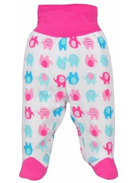 Dojčenské polodupačky Bobas Fashion Dominik ružové so slonmi