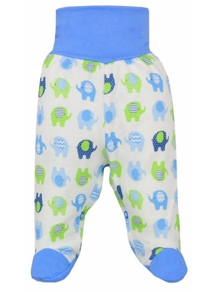 Dojčenské polodupačky Bobas Fashion Dominik modré so slonmi