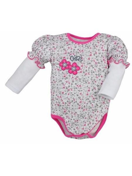 Dojčenské body s dlhým rukávom Bobas Fashion Nelinka ružové