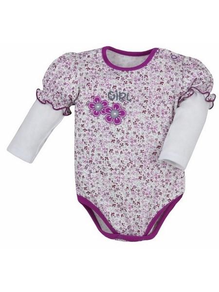 Dojčenské body s dlhým rukávom Bobas Fashion Nelinka fialové