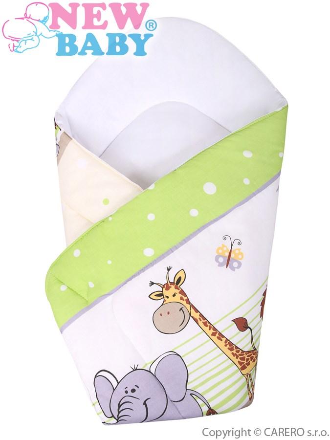 Detská zavinovačka New Baby zelené safari