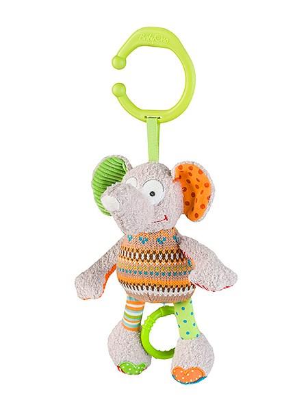 Plyšová hračka s hracím strojčekom Baby Ono Sloník bežová