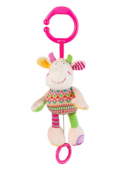Plyšová hračka s hracím strojčekom Baby Ono Kravička bežová